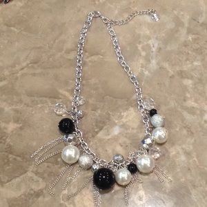 Claire's silver statement necklace.